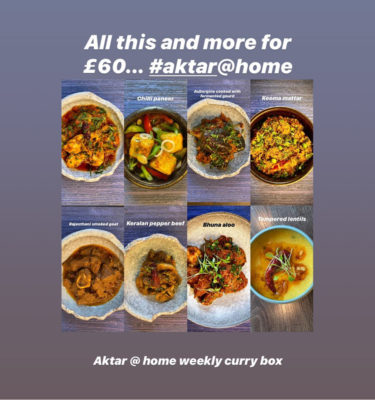 Aktar Islam - Curry Box ; Selection of traditional curry dishes